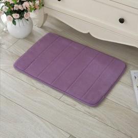 40 x 60cm Coral Velvet Memory Foam Rug Bathroom Mat Soft Non-slip Floor Carpet Purple