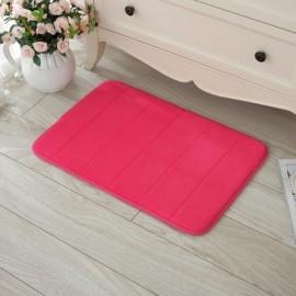 40 x 60cm Coral Velvet Memory Foam Rug Bathroom Mat Soft Non-slip Floor Carpet Pale Pink