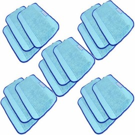 15-Pack Microfiber Pro-Clean Mopping Cloths for Floor Mopping Robot Blue
