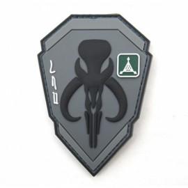 TAD Patch Bounty Hunter Character PVC Armbands Badge Gray