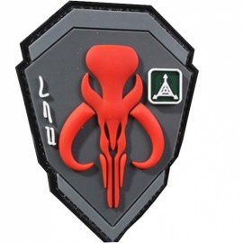TAD Patch Bounty Hunter Character PVC Armbands Badge Red