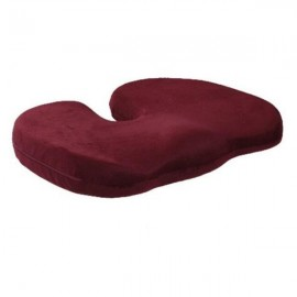 Orthopedics Seat Solution Cushion Memory Foam Back Ache Release Dark Red