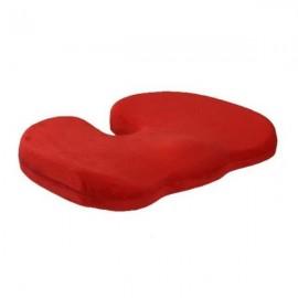 Orthopedics Seat Solution Cushion Memory Foam Back Ache Release Red
