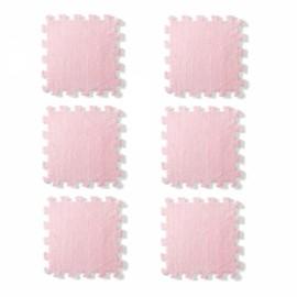 6pcs Baby Play Mat Crawling Mat Kids Room Decoration Foam Mats EVA Blankets Carpets Pink