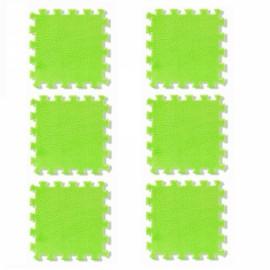 6pcs Baby Play Mat Crawling Mat Kids Room Decoration Foam Mats EVA Blankets Carpets Green