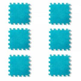 6pcs Baby Play Mat Crawling Mat Kids Room Decoration Foam Mats EVA Blankets Carpets Blue