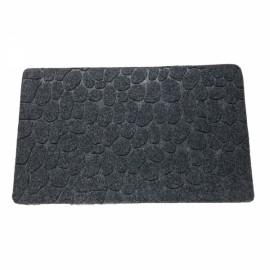 78 x 38 x 1cm Absorbent Non-slip Cobblestone Pattern Bathroom Mat Dark Gray
