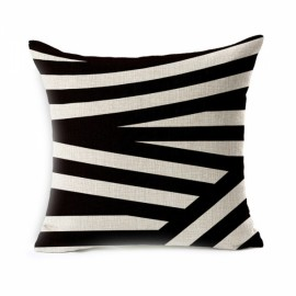 Simple Geometric Designs Cotton Linen Decorative Throw Pillow Cover 45x45cm - Pattern H