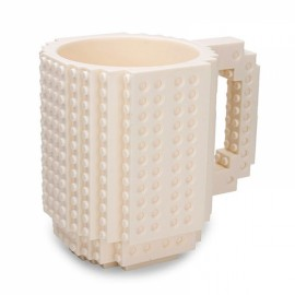 Creative DIY Puzzle Block Toy Brick Mug Coffee Cup White (350ml)