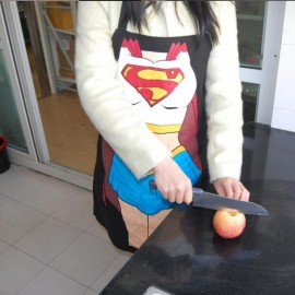 Classic Superwoman Pattern Creative Washable Kitchen Apron Funny Cooking Supplies