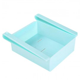 Pull-and-Push Style Plastic Kitchen Refrigerator Fridge Storage Rack Freezer Shelf Holder Kitchen Organizer Blue