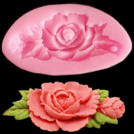 3D Silicone Rose Flower Cake Mould Soap Chocolate Resin Mould Random Color