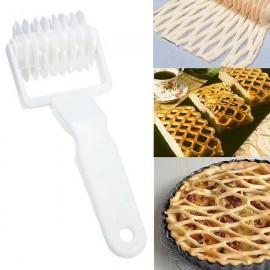 Plastic Pizza Lattice Roller Cutter Pie Bread Pastry Baking Tool White