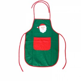 Christmas Decoration Gift Non-woven Fabric Bartender Household Apron Green