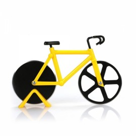Stainless Steel Bicycle Shape Pizza Cutter Kitchen Aid Yellow