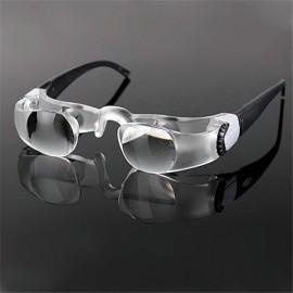 7102L 2.1X Magnification Glasses Style Magnifier Black