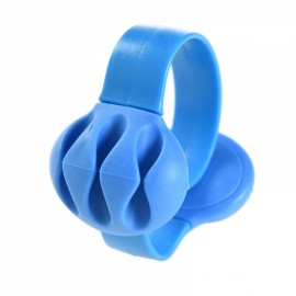 Silicone Anti-skid Desktop Clip-on Cable Holder Organizer Winder Wire Mount Management Blue
