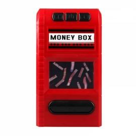 Creative Design Cartoon Piggy Bank Money Box Simulation Cash Grinders Saving Cash Box Music Shredder Piggy Bank Red
