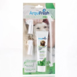 6072 PP Plastic Toothbrush and Toothpaste for Dog White