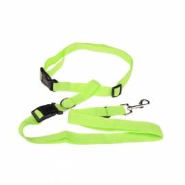 Morning Running Use Pet Dog Leash Running Jogging Puppy Dog Lead Collar Green