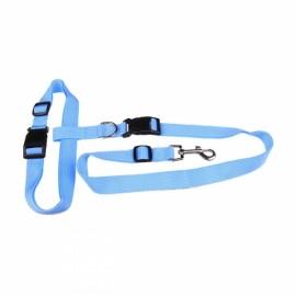 Morning Running Use Pet Dog Leash Running Jogging Puppy Dog Lead Collar Blue