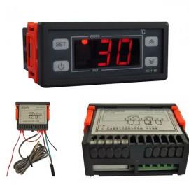 RC-112E Digital LCD Thermostat Regulator Temperature Controller 12V/30A Black & Golden 2m Sensor Wire
