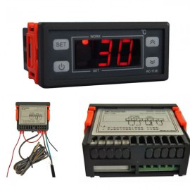 RC-112E Digital LCD Thermostat Regulator Temperature Controller 110V/30A Black & Golden 2m Sensor Wire