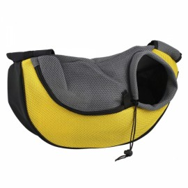 Pet Carrying Cat Dog Puppy Small Animal Sling Front Carrier S/ Yellow