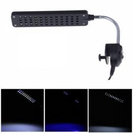 High Power 48 LEDs Aquarium Lamp Fish Tank Flexible Clamp Fishbowl Clip Light - US Plug