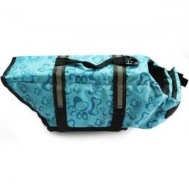Dog Life Jacket Vest Saver Safety Swimsuit Preserver with Reflective Stripes - Blue & Size XL