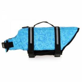 Dog Life Jacket Vest Saver Safety Swimsuit Preserver with Reflective Stripes - Blue & Size S