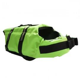 Dog Life Jacket Vest Saver Safety Swimsuit Preserver with Reflective Stripes - Green & Size M