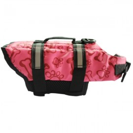 Dog Life Jacket Vest Saver Safety Swimsuit Preserver with Reflective Stripes - Pink & Size M