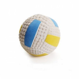 Soft Bouncing Latex Squeaky Floating Toy Fetch Throw Ball For Dog - 6cm Small Volleyball