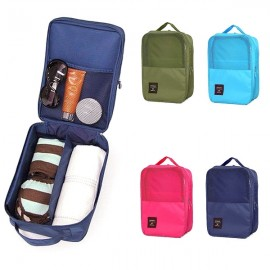 Creative 3-Layer Travel Storage Bag Waterproof Portable Shoes Box Pouch Green