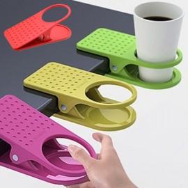 Creative Table Desk Cup Holder Clip Drink Clip Coffee Holder Random Color