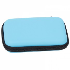 "Portable Storage Bag Multi-functional Travel Case for 2.5"" External Hard Drive & Digital Accessories Blue"