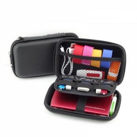 "Portable Storage Bag Multi-functional Travel Case for 2.5"" External Hard Drive & Digital Accessories Black"