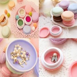Macaron Candy Color Mini Jewelry Pill Storage Box Birthday Gift Dark Green