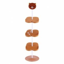 Children Cartoon Animal Pattern Stand Style Shoe Rack  - Brown Bear
