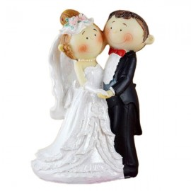 Cutie Version Bride & Groom Doll Figurine Wedding Decoration
