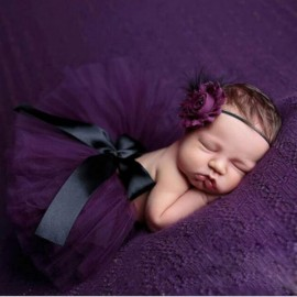 Infant Tutu Design Costume Outfit Newborn Baby Bubble Skirt Photography Props Purple