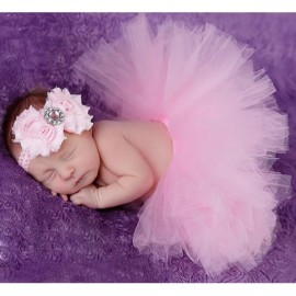 Infant Tutu Design Costume Outfit Newborn Baby Bubble Skirt Photography Props Pink