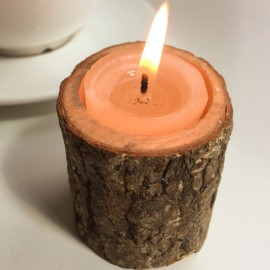 Creative Original Ecology Wooden Candle Holder (Without Candle)