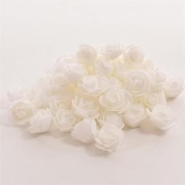 50pcs Artificial Rose PE Foam Flowers Design Wedding Party Home Decoration White