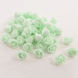 50pcs Artificial Rose PE Foam Flowers Design Wedding Party Home Decoration Light Green