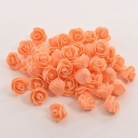 50pcs Artificial Rose PE Foam Flowers Design Wedding Party Home Decoration Orange