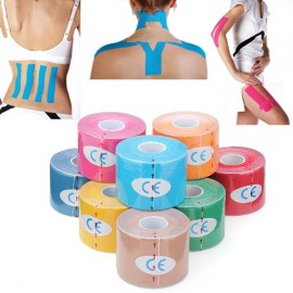 Kinesiology Muscle Care Tape Athletic Therapeutic Sports Tape Bandage 5cm x 5m Yellow