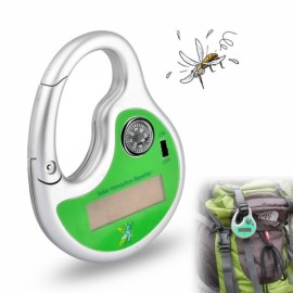 Solar Powered Sonic Mosquito Insect Repeller with Compass Green