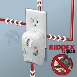 RIDDEX Quad Ultrasonic Electromagnetic Wave Mosquito Pest Repellent (US Plug) White